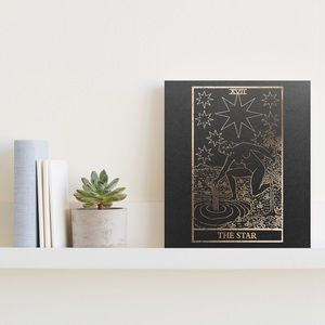 Distressed Gold Foiled The Star Tarot Print